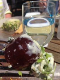 Blue Cheese Covered Grape in the Napa Salad