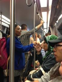 Train Ride on the T in Boston