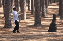 Trumpet Player in the Pines